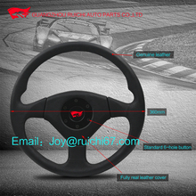 Custom Type Leather wrapped steering wheel