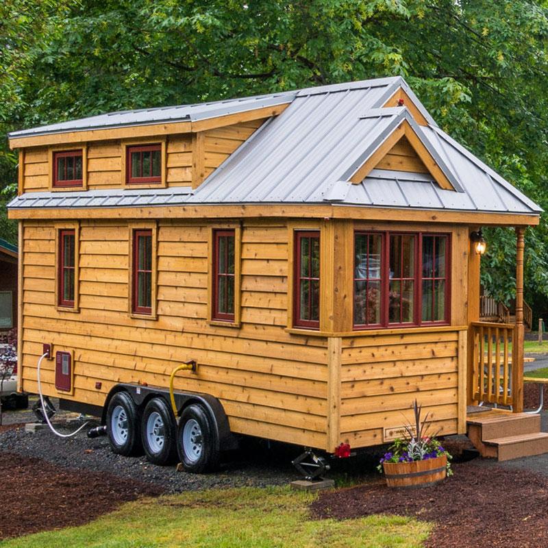 منازل صغيرة جاهزة الصنع متنقلة على عجلات للبيع
