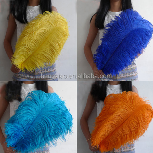artificial ostrich feathers big size decorations