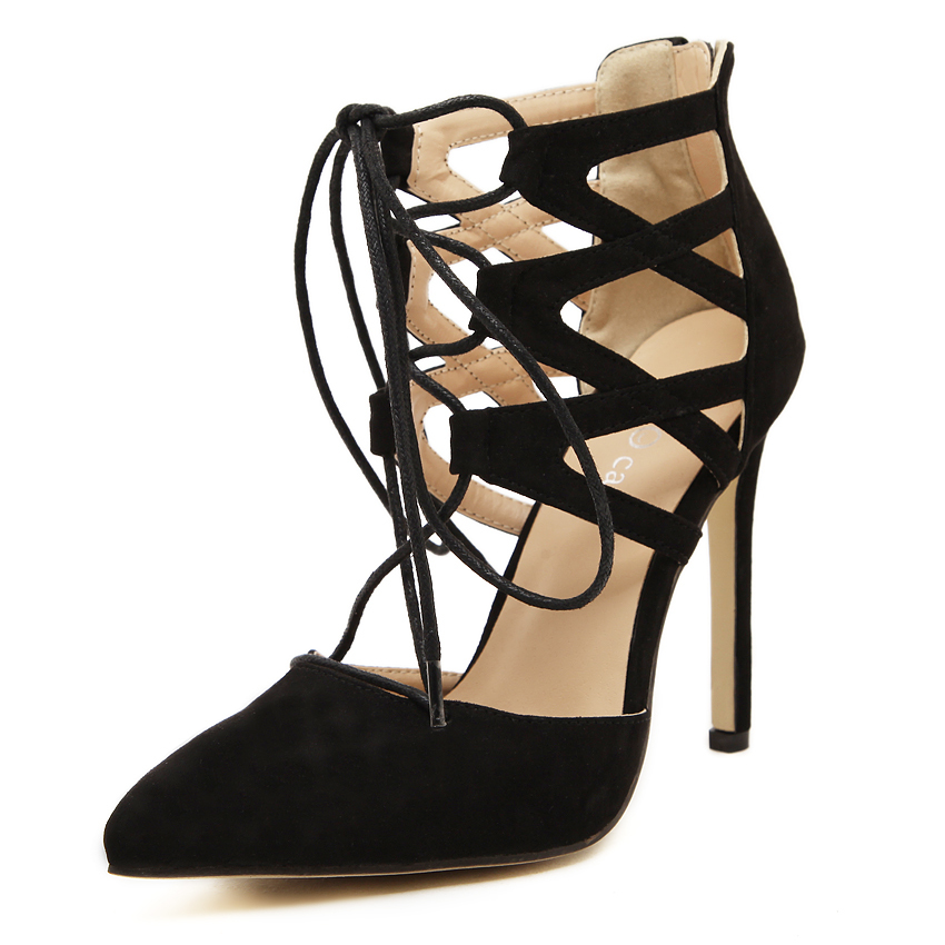 82c4e87c2b2f6 Get Quotations · New 2015 Sexy Women Pumps Pointed Toe High Heels Shoes  Lace Up Women Shoes Wedding Shoes
