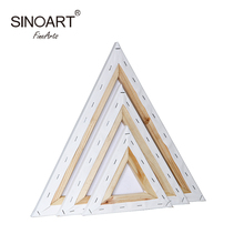 Mini Blank Artist Triangular Stretched Canvas For Oil Painting Canvas