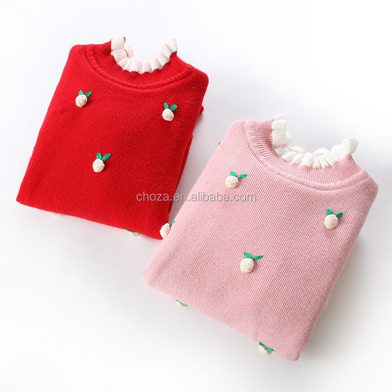 C22761B Wholesale Kids Girls Fashion Sweaters High End Cashmere Cardigans