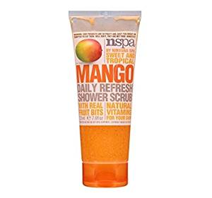 N-Spa by Nirvana Spa Sweet and Tropical Mango Daily Refresh Shower Scrub with Real Fruit Bits & Natural Vitamins