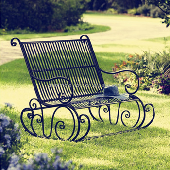 a6476c5691c9 Outdoor Patio Furniture Decorative Wrought Iron Garden Rocking Chair ...