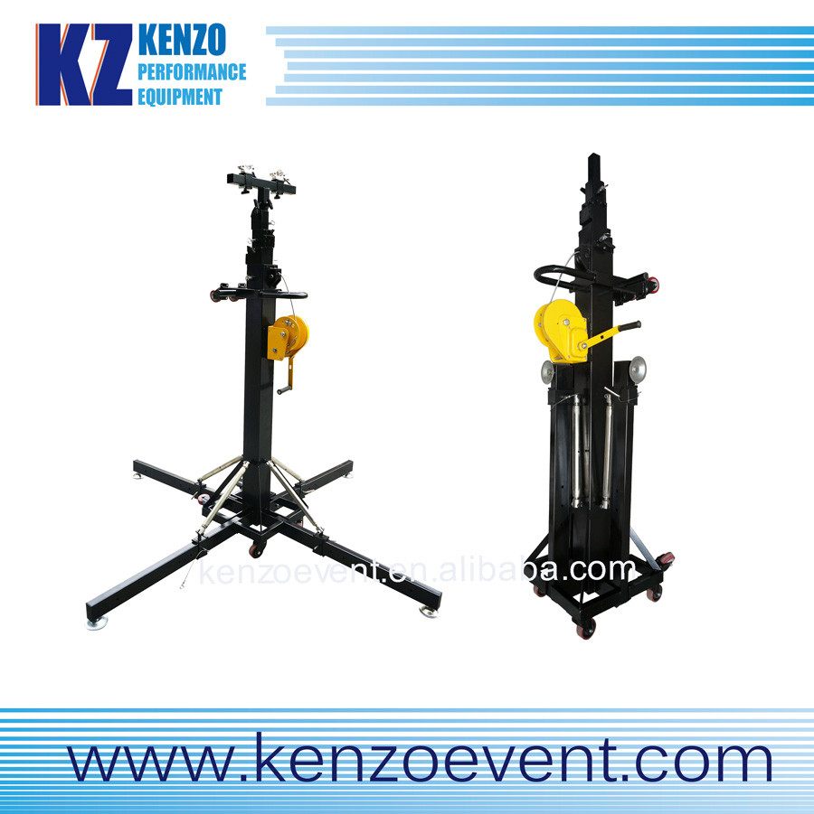 Black Heavy Duty Metal Tower Lift With Manual Winch