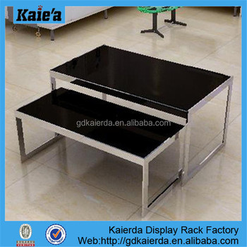 Glass Top Display Tables/retail Display Table/Boutique Table Display