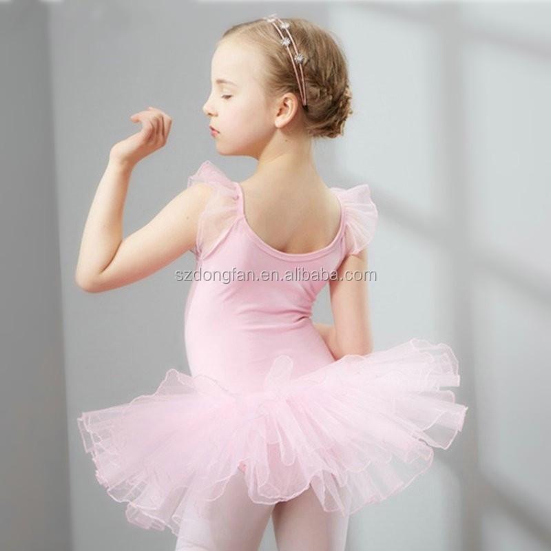 Elegant Ballerina Tutu Dresses Kids Dance Costume Leotard