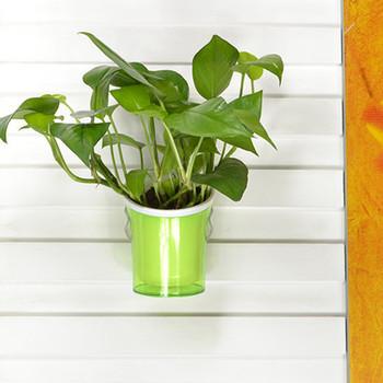 Hot Decorative Pvc Plastic Flowerpot Wall Mounted Hanger Flower Holder