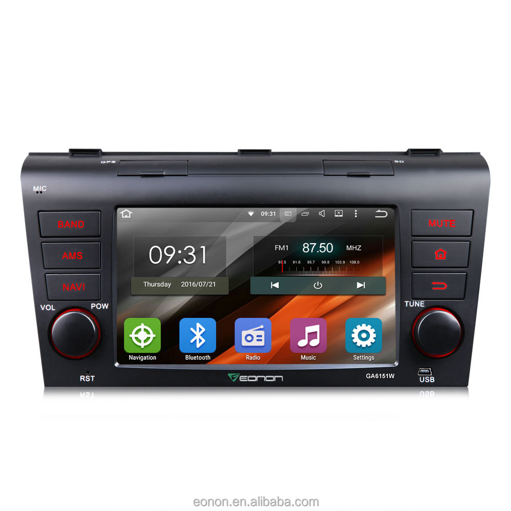 EONON GA6151W for Mazda 3 2004-2009 7 Inch Android 5.1.1 system Navigation compatible with Bose System(No DVD)