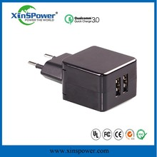 Wholesale 5V 2.1A mobile phone charger travel adapter usb wall charger K102 EU Plug for Samsung Note3 N900