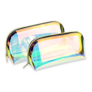 2019 Women's Custom-made trend bag laser iridescent cosmetic bag make up pouch girls vanity bag for makeup brush