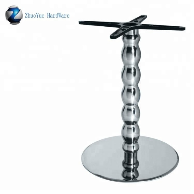 New design stainless steel base for dining chair Modern Glass And Stainless Steel Coffee Table MB-05