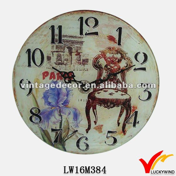 antique style wall wood clock