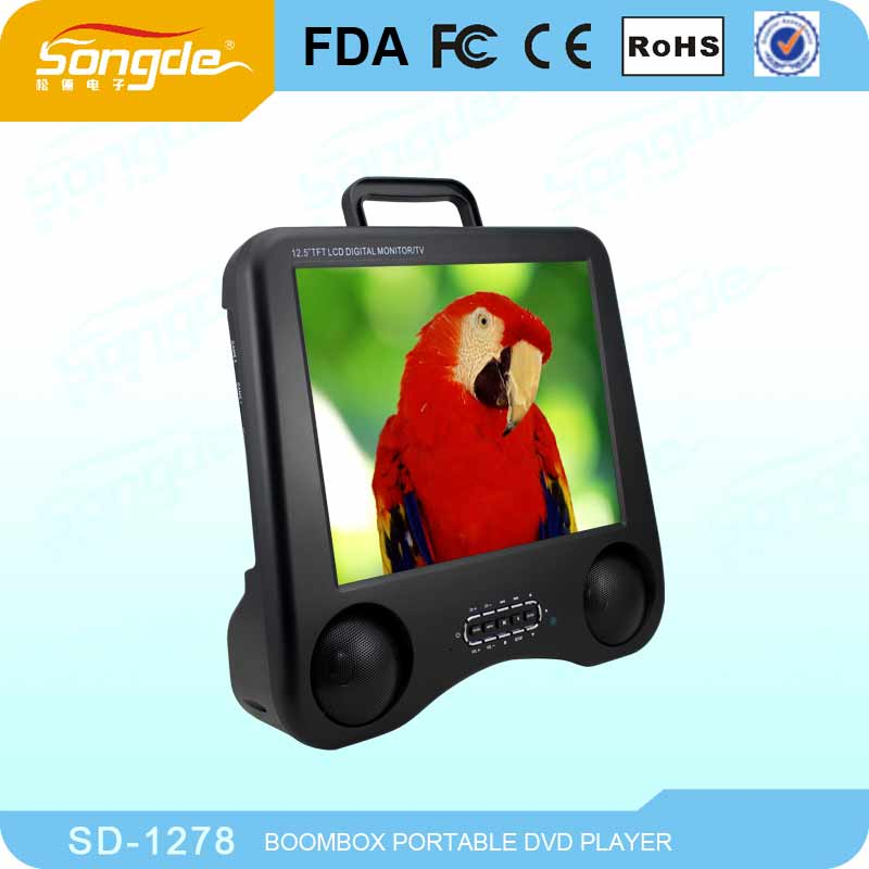 Portable Dvd Player Big Size With Long-life Battery