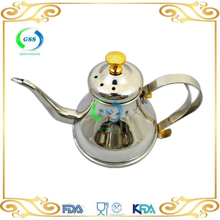 Hot Product Cheapest easy usestainless steel teapot arabic teapot,arabic coffee pot with handle