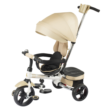 Baby Tricycle 1-5 Years With Foldable Canopy Kids Metal Kids Tricycle