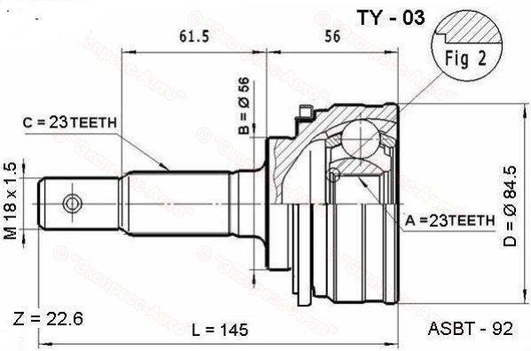 toyota cv joint diagram