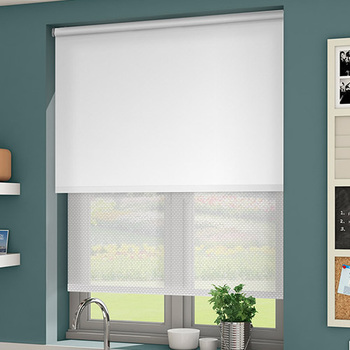 Double Window Blind Double Layer Roller Blind Double