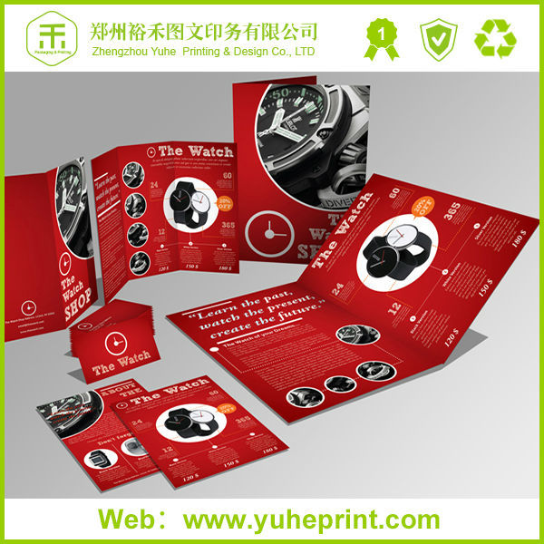 2015 Bulk Pantone Color Offset Print Unique Brochures Flyers Poster Folder Printing Catalogues