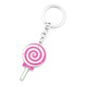 Lovely lolly zinc alloy metal keychain/candy keyring