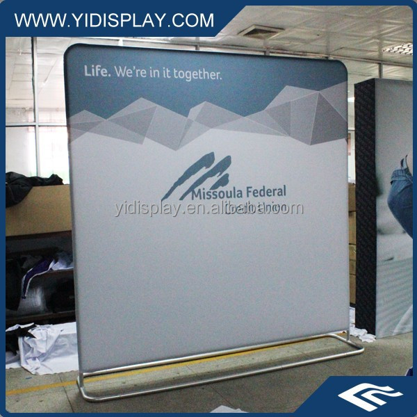 Tension fabric pop up display trade show booth