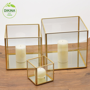 Religious candle holder with mirror base Wedding Favors Gifts Party Suppliers factory outlet online happy birthday Candleholders