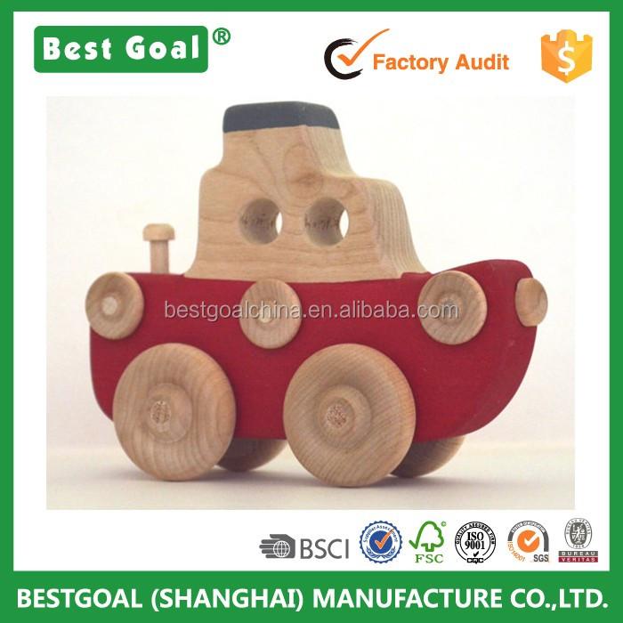 Personalisierte Holz Schlepper In Rot Ein Push Spielzeug ...
