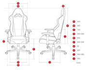 Y-2711 Leather And Fabric Professional Pc Gaming Chair Car Seat ...