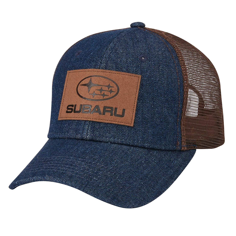 Get Quotations · Genuine Subaru Denim Front Mesh Back Cap Hat Impreza WRX  STI Forester Outback faa627523bbb