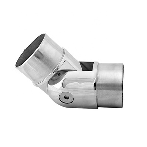 threaded pipe bend stainless steel 90 degrees adjustable swivel elbow flange tube mitre handrail joint elbow connector fittings