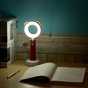 New USB rechargeable cute cartoon small Led night pet desk lamp for children