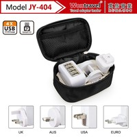 Universal travel adapter as travel sets 2016 New Products mobile phone chargers travel accessories for Men Best Gift