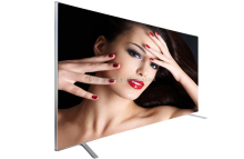 "Factory OEM 75 inch UHD 4K LED TV with Aluminum frame and Tempered glass /Factory wholesale 75"" LED TV with 4K Resolution"