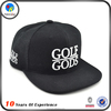 Hot Selling Black Embroidered Custom Snapback Hat