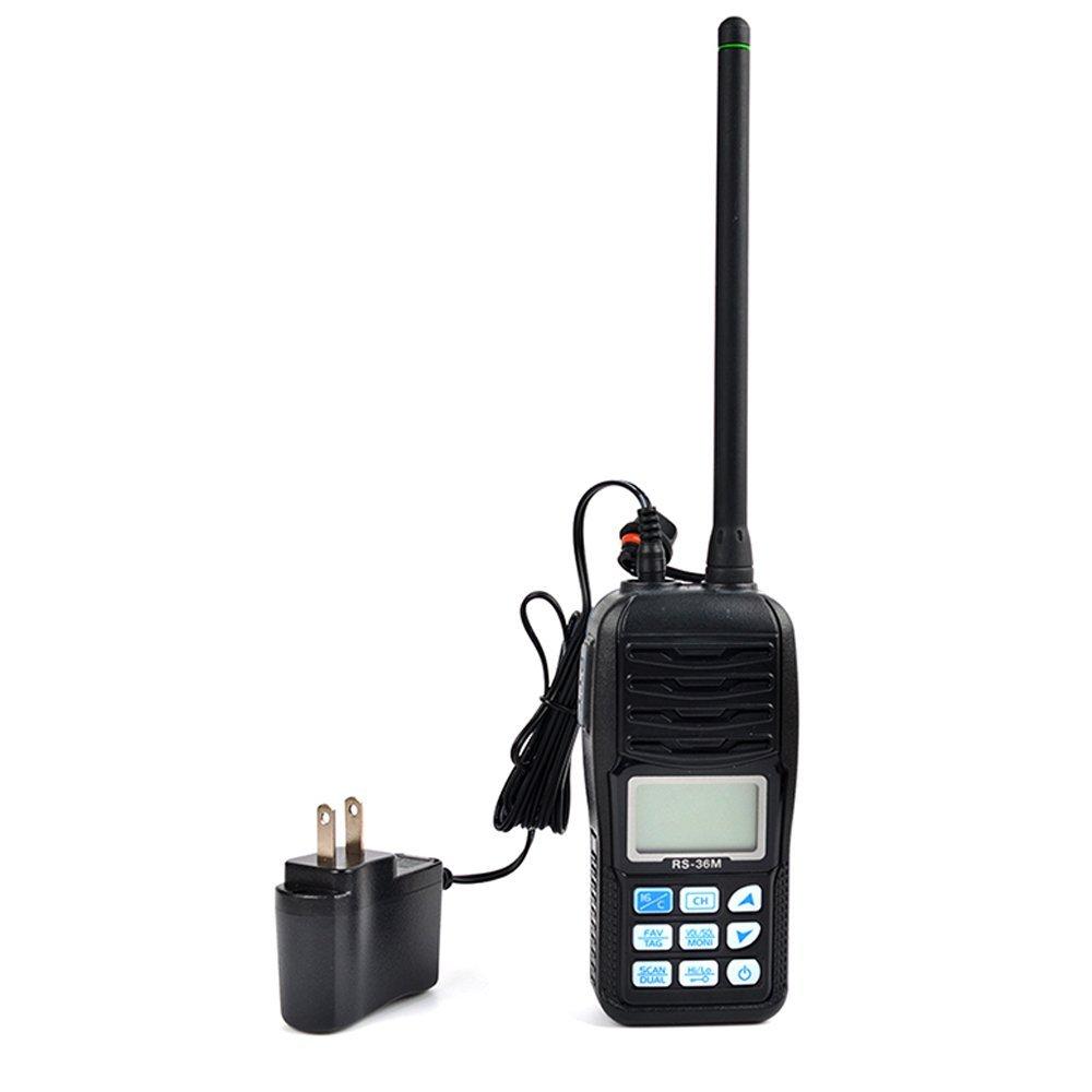 TWAYRDIO RS-36M VHF Handheld Two Way Marine Radio 5W Floating Walkie Talkie Transceiver
