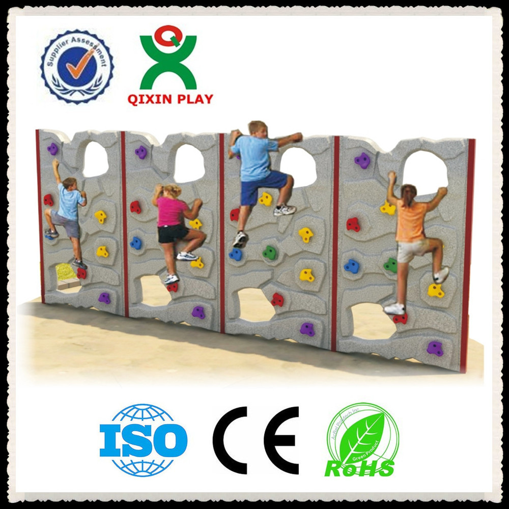china wholesale plastic kids outdoor climbing wall kids rock