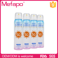 Natural outdoor oem SPF50 sun protection sunscreen spray