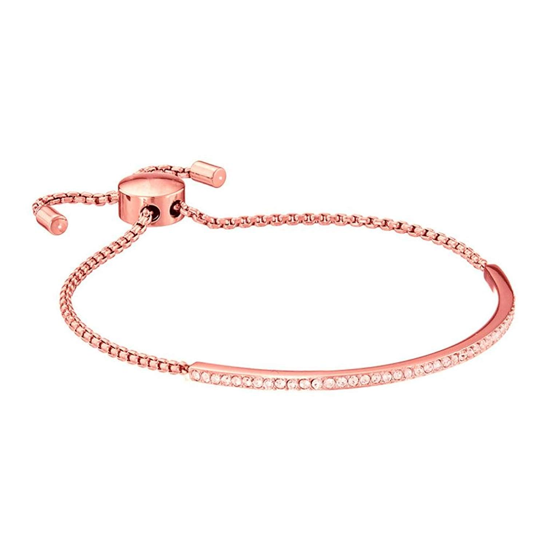 JSPOYOU Promotions! Womens Simple Alloy Diamond Bar Bracelet Adjustable Bracelet
