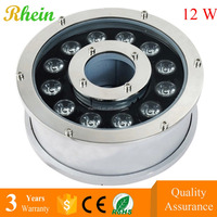 Hot Products Price list LED Underwater Landscape Lamps 12W IP68 RGB LED Fountain Lights Submersible