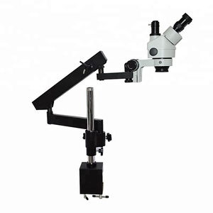 China Articulating Pillar Clamp Stand Stereo Zoom Jewelry Microscope