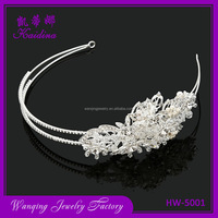 Factory supply different types metal headband bridesmaids kids wedding hair accessories