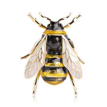 Custom High Quality Crystal Brooches Small Animal Bee Brooch