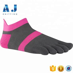 AJ18128 Custom Brand Logo Coolmax No Show Running Toe Socks for Women