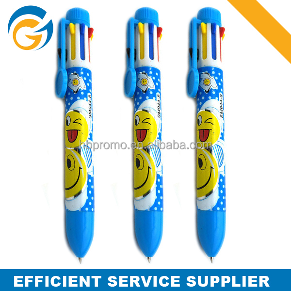 Promotion Full Color Logo Printing Six Color Pen