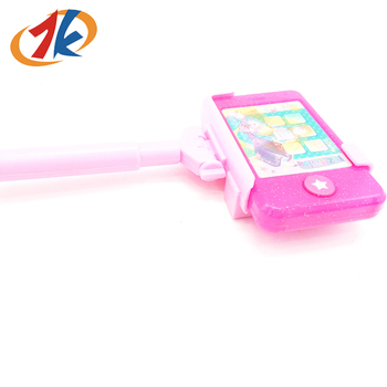 Fashion Plastic Mobile Phone Toy with Selfie Stick Toy for Kids