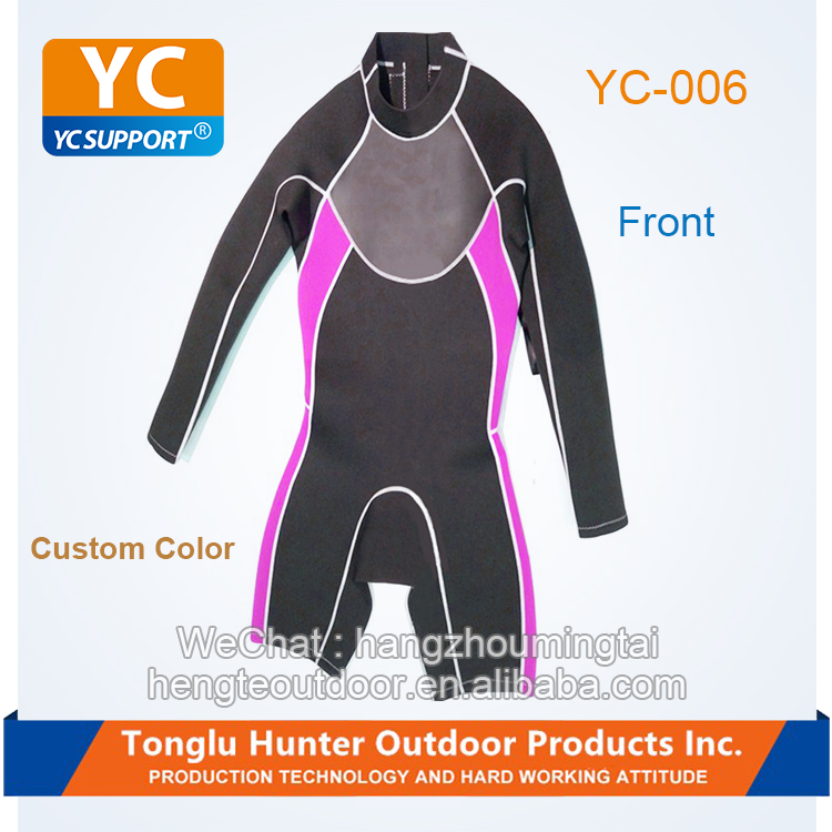 Fashion long sleeve and short leg Pants-shot neoprene canyoning wetsuits