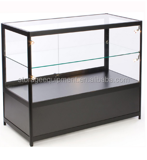 2017 NEW hot sale glass Aluminum display counter and cabinets for retail store used