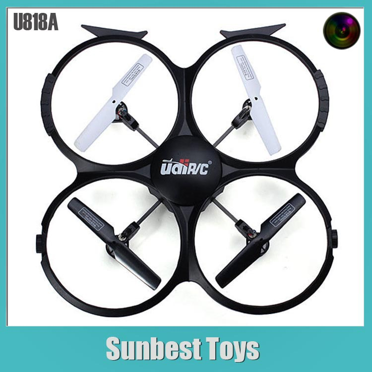 Free Shipping 2.4G 4CH 6 Axis Gyro Tumble U818A Quadcopter Drone Camera