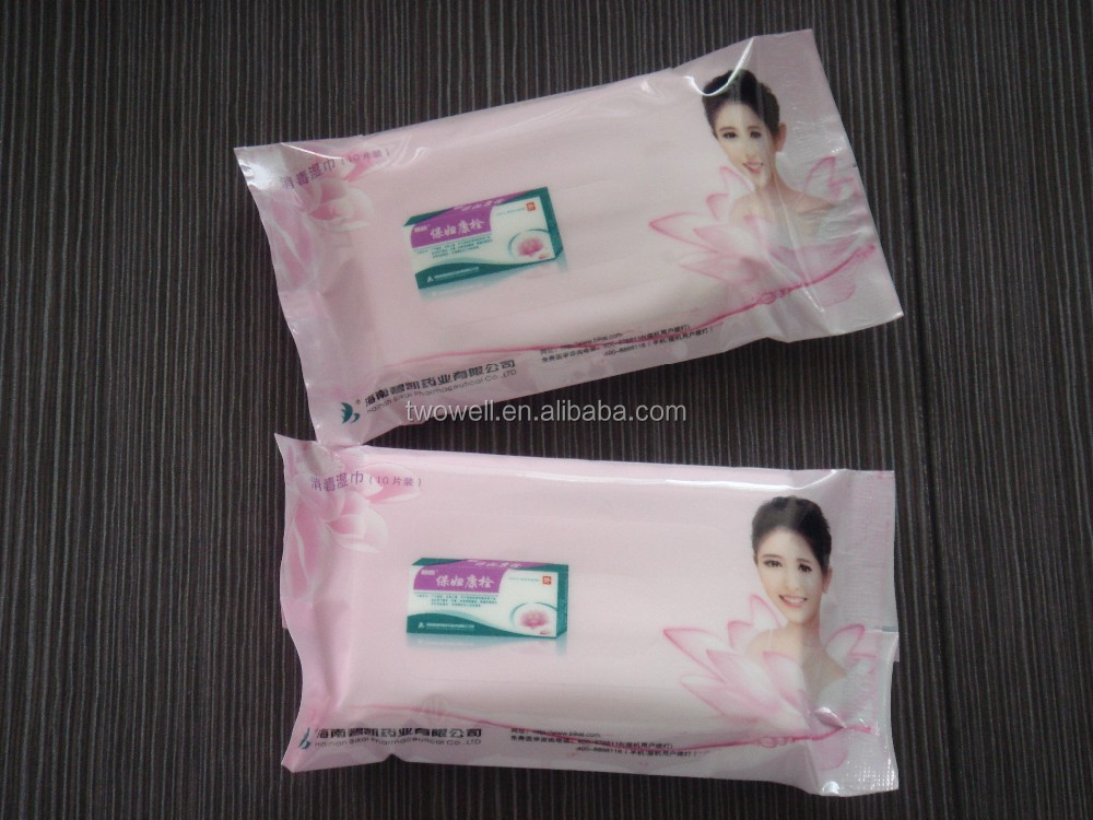 unscented disposable feminine hygiene wipe