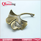 Antique Bronze Lovely Ginkgo Leaf Charm Connector Link Factory Outlet Pendant